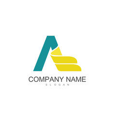 letter a wing company logo vector image