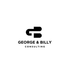 letter g and b logo design concept vector image