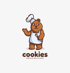Logo cookies simple mascot style vector