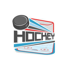 logo of ice hockey vector image