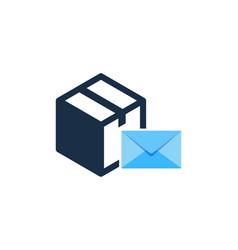 Mail box logo icon design vector