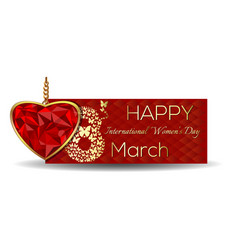March 8 happy international womens day banner vector