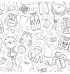 modern casual boys clothes vector image