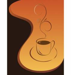 morning cup of black coffee vector image