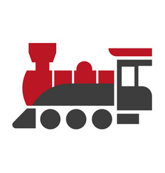 old style steam engine locomotive icon isolated vector image