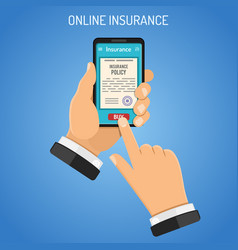 Online insurance services concept vector