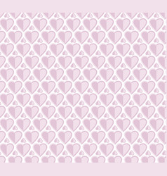 pale rose color pattern with heart vector image