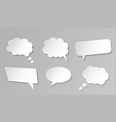paper speech bubbles collection vector image