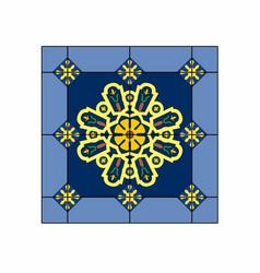 Patterned rug vector