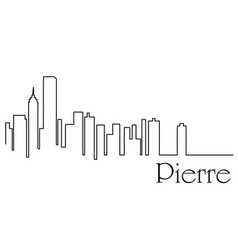 pierre city one line drawing vector image