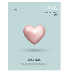 poster valentines day sale vector image