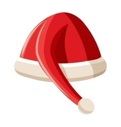 Red christmas hat icon cartoon style vector