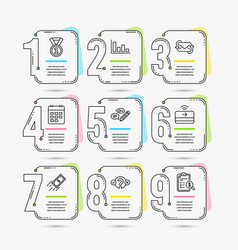 Refresh mail keywords and fast payment icons vector