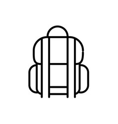 rucksack luggage tourism travel thick line vector image