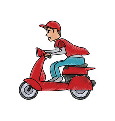 scooter motorbike icon image vector image