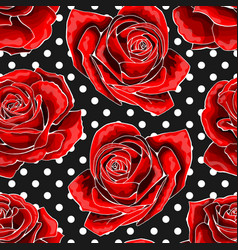 seamless pattern background with red outlined vector image