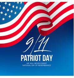 September 11 2001 patriot day background we vector