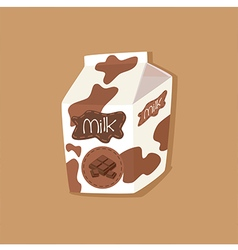 Spotted chocolate milk carton vector