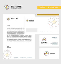 Star business letterhead envelope and visiting vector