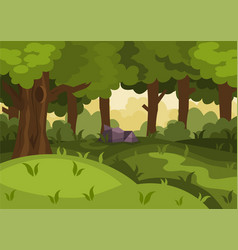 summer day forest cartoon background vector image