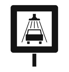 traffic sign car wash icon simple style vector image