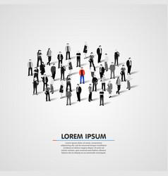 Unique person in crowd vector