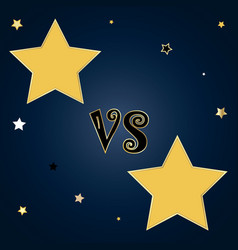 versus template with star shape badges for text vector image