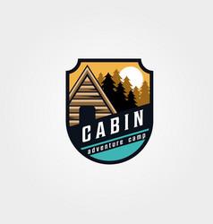 Vintage cabin emblem logo symbol design vector