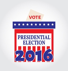 Vote box for presidential election vector image