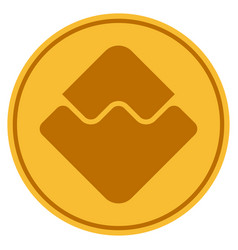 Waves currency gold coin vector