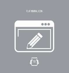 Web design and project customized vector