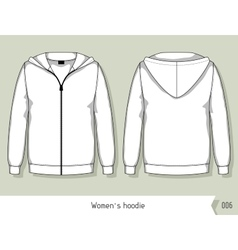 Women hoodie Template for design easily editable vector