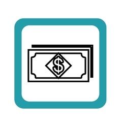 Bills money pattern isolated icon vector