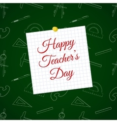 Happy teacher s day over cell sheet vector