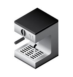 isometric coffee machine vector image