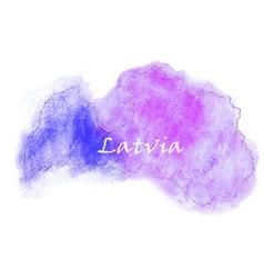Latvia watercolor map vector image vector image