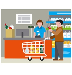 supermarket and shopping vector image