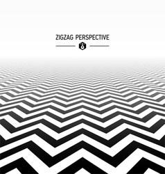 Zigzag pattern perspective vector image vector image
