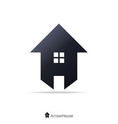 arrow and house concept logo vector image