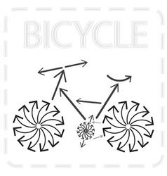 Bike from arrows vector
