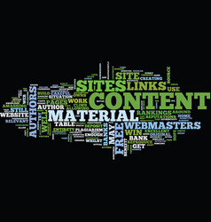 free web content text background word cloud vector image vector image