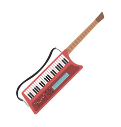 music synthesizer guitar keyboard audio piano vector image