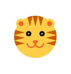 tiger cartoon animal head vector image vector image