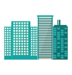 blue buildings and city scene line sticker vector image vector image