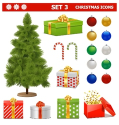 Christmas Icons Set 3 vector image vector image
