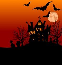 Halloween house flyer vector