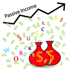 Passive Income and Financial Freedom Concept vector image vector image