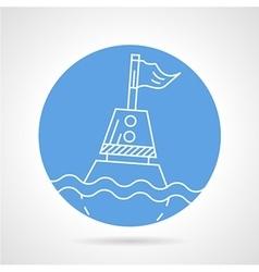 Sea buoy round icon vector image