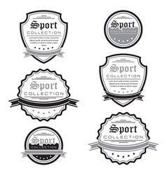 set of sport emblems Logo badges and labels vector image
