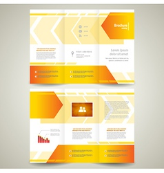 brochure design leaflet geometric abstract arrow vector image vector image
